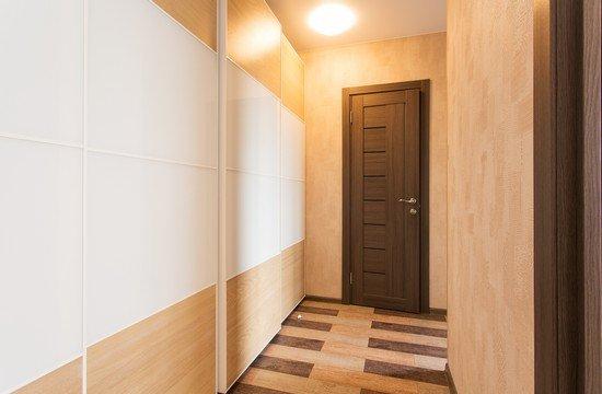 Интерьер коридора в квартире панельного дома с дверью | 360x550